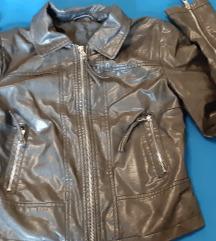 Usnjena črna jakna