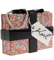 Karl Lagerfeld present minaudiere clutch bag