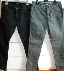 2x moške hlače, vel. 48