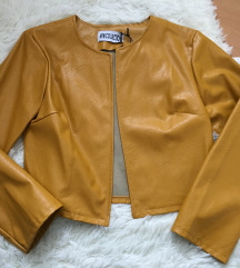 usnjena jaknica zenf rumena m/l