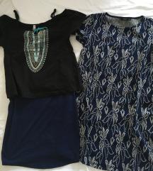 komplet majica + krilo + oblekica