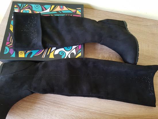 Novi črni škornji ❤️
