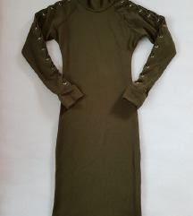 Midi lace up topla obleka S/M