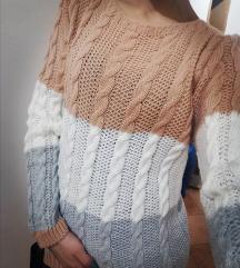 Pisani pleteni puloverček
