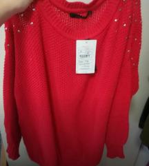 Rdec pulover