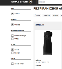Adidas nova original (dvoslojna) obleka