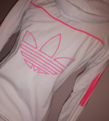 Adidas bela - neon pink jopica s kapuco s / M