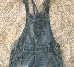 Jeans hlače z naramnicami Hollister
