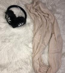 Zimske slušalke+šal