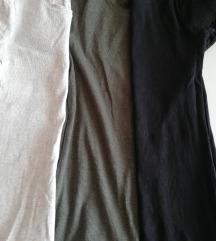 Komplet rebrastih majic k. rokavi