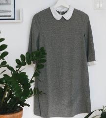 Siva obleka z ovratnikom