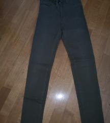 High waist skinny dolge hlače