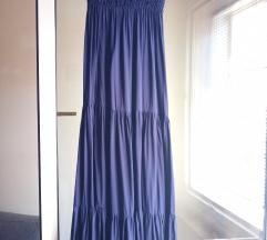 Vijolčna maxi obleka