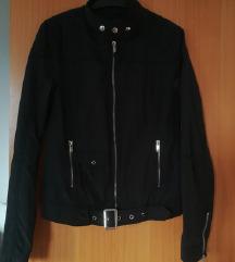 Črna biker jakna