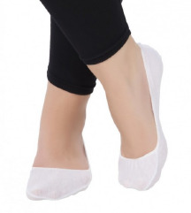 Bele bombažne stopalke