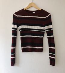 Črtast pulover