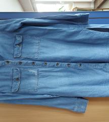 Stradivarius daljša jeans srajca/tunika