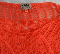 NEON(!) oranžna pletenina *POŠTNINA VKLJUČENA*