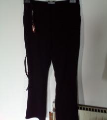 H&M 34 črne klasične hlače z pasom