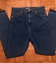 Bershka jeans hlače super high waist M