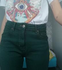 Zelene jeans hlače S-M