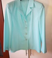 Ženski kostim 42 blazer hlače turkizni