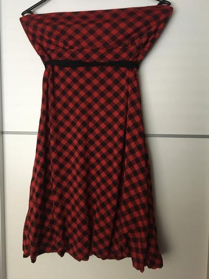 Rdece crna mini oblekica