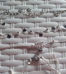 Nova srebrna 925 verižica za nogo