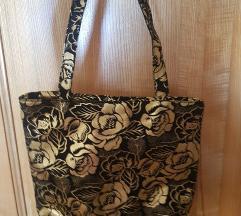 Zlato - črna torbica