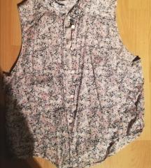 Srajcka s cvetličnim vzorcem brez rokavov