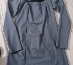 Obleka s pepita vzorcem in detajlom spredaj