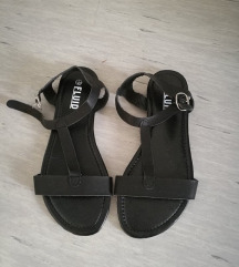 črni poletni sandali