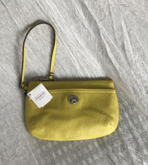 NEW! Coach Leather Lime Green Pouch
