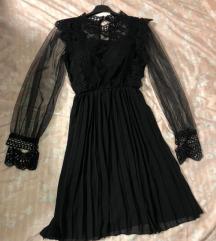 Nova črna obleka s čipko s