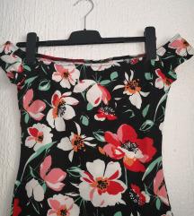 Nova rožasta off shoulder oblekica XS/