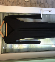Oprijeta črna obleka NICO