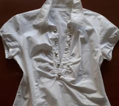 Bela srajcka, elasticna z zadrgo, TT