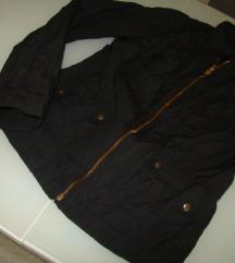 SISLEY jaknca črna metal