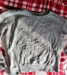 Siv pulover z zadrgami