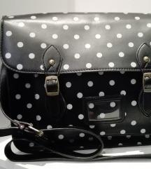 Črna polka dot torbica