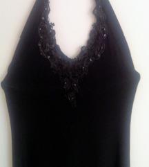 Dolga črna asimetricna obleka