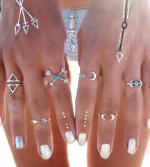 Nov komplet prstanov 6kom