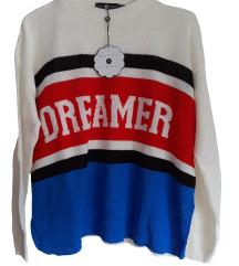 Daisy Street pulover z etiketo