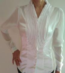 Bela bluza z volančki