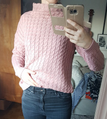 MANGO roza pulover