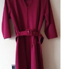 Nova rdeče/vijola elegantna poslovna obleka