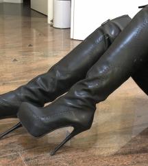Pravo usnje overknee škornji