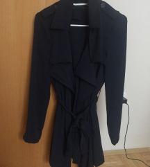 Nov temno moder trench coat zara trenčkot plašč