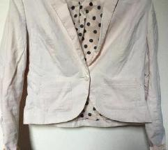 Svetlo roza blazer