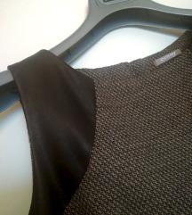 Orsay obleka z usnjenim detajlom